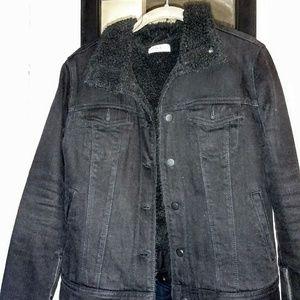 Gap denim shearling jacket